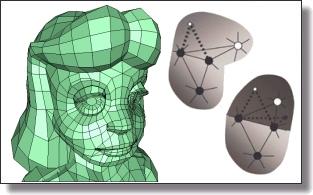 pdf mesh of regular polygon with 128 sides